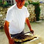"""The owner with """"cousin of red snapper!"""""""