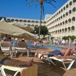 view from our lounger on the 30th October few its warm