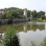 Old town wall and moat
