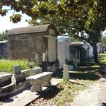 We started our trek at the old Lafayette cemetery. Graves above ground due to flooding