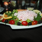 This is the lighter portion shrimp salad.