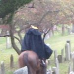 Headless Horseman at the Old Dutch Church Burying Ground. Went to the Sleepy Hollow Cemetery aft
