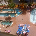 Bird's eye view of the outdoor pools