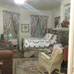 Parlor room, looking in, Oct 2014.  I shut the curtains at night.