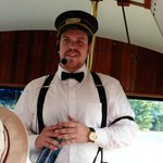Our trolley conductor guide.