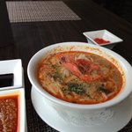 Laksa at York Hotel - great tasting in cool cafe comfort without having to fight the heat at haw