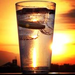 Gin & tonic at sunset