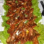 This was our lovely meal of prawns prepared Maputo style - just lovely!