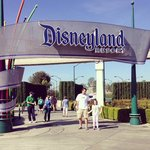 Disneyland Resort sign is just minutes from the hotel!