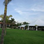 Hotel grounds and events tent