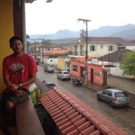 Rainy day in Paraty, relaxing on the balcony