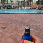 First beer from poolside bar !