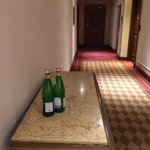These bottles were left in the hallway for four hours without staff bothering to pick them up.