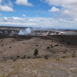 Halemaʻumaʻu Crater from the Jaggar Museum overlook