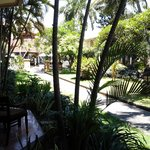 looking towards the pool and reception area froom our room
