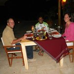 Final dinner with Francien & Willem - Joy's Camp