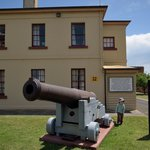 19th century building & cannon