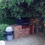 Grill in patio area