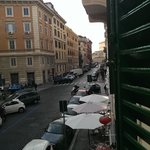 The Vatican walls at the end of the street from our bedroom window