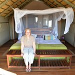 good sized matrimonial bed, mosquito net ( don´t know why as no mozzies) - overall nice accom