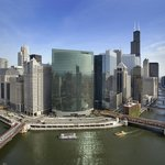 Chicago River and Skyline View