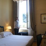 Our room and large window with shutters