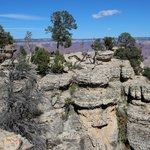 Along the western section of the South rim