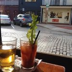 a street view and our drinks