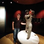 With Sir Donald Bradman