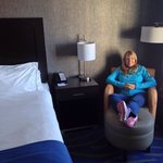 My darling relaxing in our suite. Very comfortable.