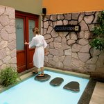 The spa and clever entrance