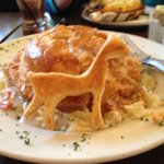 Flaky crusted chicken pot pie