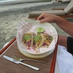 Food was delicious - even that served on the beach
