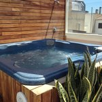 Hot tub on the roof
