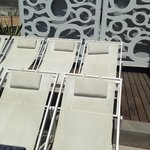 Roof top sun loungers