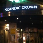 Scandic Crown Entrance. Evening, Saturday November 8, 2014