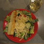 Large salad with meal