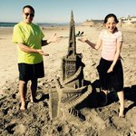 Our finished sand castle!