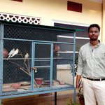 My self with beautiful birds