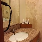 room 326 bathroom sink/mirror