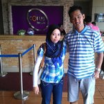 With my beloved wife