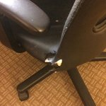 More holes in the desk chair