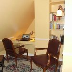 The little den, workroom (which has a tv) adjoining my room was a perfect, charming workspace.