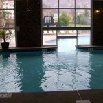 View to outside from inside portion of pool