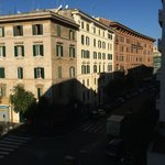 Just to the right of these buildings on same street 7 minute walk is the Vatican
