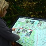 Anita checks out the points of interest of the North Cascades National Park