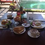 Breakfast in the villa