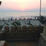 A view of the sunset at Juhu Beach from J W Marriott hotel