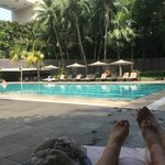 so quiet and uncrowded - poolside
