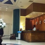 The hotel reception area